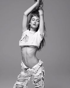 Gigi Hadid by Mert and Marcus for Daily Front Row Spring 2017 Style Gigi Hadid, Bella Gigi Hadid, Gigi Hadid Body, Gigi Hadid Jeans, Gigi Hadid Photoshoot, Daily Front Row, Scarlett, Most Popular Instagram, Famous Instagram Models