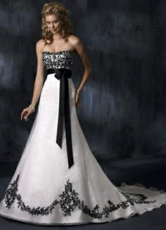 Wedding gowns and bridesmaid dresses cheap wedding dresses with sleeves,pretty bride dresses bridesmaid dresses online,country style lace bridesmaid dresses red and white wedding dresses. Black White Wedding Dress, Lace Wedding Dress, Colored Wedding Dresses, Lace Dress, Tulle Wedding, White Dress, Dress Black, Black Belt, White Corset