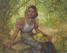 """Fernando Amorsolo y Cueto, Filipino painter, was an important influence on contemporary Filipino art and artists, even beyond the so-called """"Amorsolo school"""". Subjects: Philippine Genre, historical and society Portraits. Arte Filipino, Philippine Art, Philippines Culture, India Ink, Relaxing Music, Impressionism, Oil On Canvas, Book Art, Folk"""