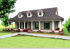 House Plan 1776-00053 – This low country porch is a featured highlight of this Southern house design; plenty of relaxing and entertaining space for family and friends. The interior layout incorporates three bedrooms and two plus baths into the approximate 2,123 square feet of living space.