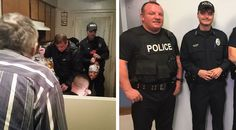 A group of Mt. Pleasant, Tennessee, police officers are being recognized for going out of their way to help an elderly man over the weekend.