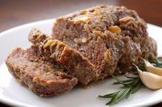 Health is Wealth Journal: Rosemary and Roasted Garlic Meatloaf