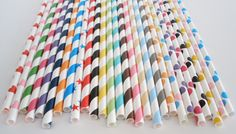 300 Paper Straws.. PICK your Color(s) Any Color, Any Design, Mix or Match.Your Choice...Paper Drinking Straws....Cake Pop Sticks...Weddings. $42.00, via Etsy.