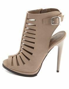 Peep Toe Caged Heel: Charlotte Russe