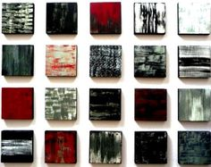 Painted Wood Abstract Wall Art Sculpture Blocks by artbyRosemary