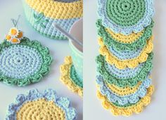 pretty...crochet basket and coasters