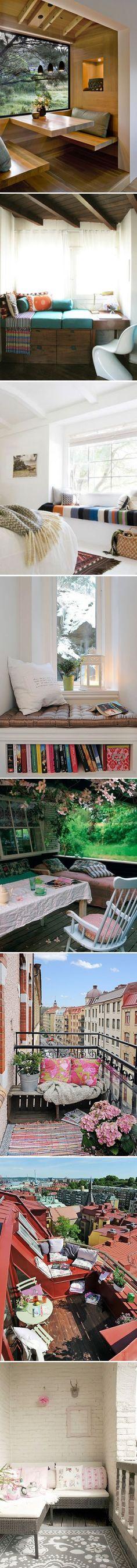Some great cozy balcony ideas..