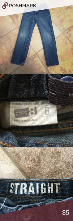 EEUC Crazy 8 boy's jeans EEUC Crazy 8 boy's straight leg jeans. Size 6. No visible wear. Crazy8 Jeans Straight Leg