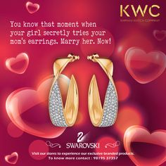 The signs are there. Act now. #KWC #Swarovski Contact us on 9819537357