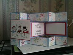 snowmen tri shutter card