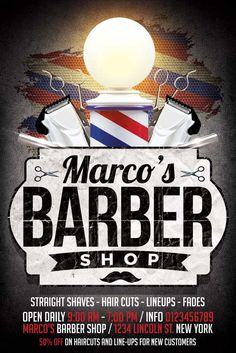 party flyer flyer design retro haircut barber shop vintage haircut salon text color psd flyer templates shopping add remove barber shop