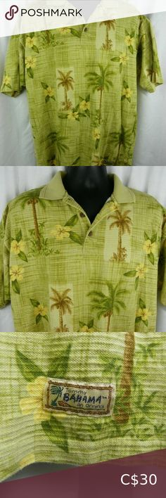 Tommy Bahama Hawaiian Golf Shirt Palm Trees Floral Tommy Bahama Hawaiian golf shirt made of cotton. Shirt is gently used and a men's size medium. Golf Shirts, Tommy Bahama, Palm Trees, Hawaiian, Buy And Sell, Man Shop, Medium, Best Deals, Floral