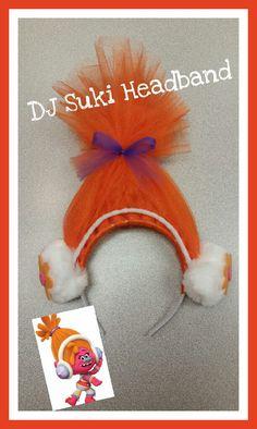 Orange Troll Headband with Headphones Inspired by Trolls Movie DJ Suki by LuckyShamrockShop on Etsy https://www.etsy.com/listing/502868368/orange-troll-headband-with-headphones