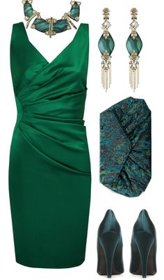"""""""emerald chtistmas"""" by sagramora ❤ liked on Polyvore"""