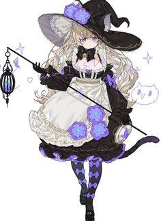 Fantasy Character Design, Character Design Inspiration, Character Art, Pretty Art, Cute Art, Character Illustration, Illustration Art, Anime Witch, Witch Art