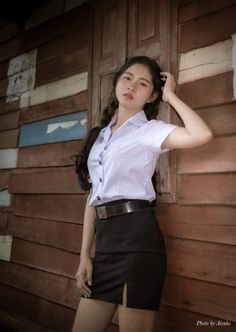 Leather Skirt, Photo Wall, Student, Sexy, Cute, Skirts, Fashion, Moda, Skirt