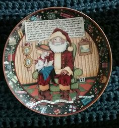 Mary Engelbreit Christmas Plate Collection Limited Edition  #MaryEngelbreit