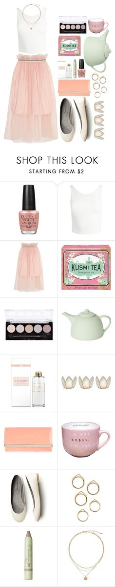 """Tea Time"" by kellinquinnsbae ❤ liked on Polyvore featuring OPI, Sans Souci, Mother of Pearl, Kusmi Tea, L.A. Colors, Mud Australia, Cultural Intrigue, Jimmy Choo and Pixi"