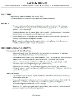New Massage Therapist Resume Examples Resumes For Receptionist Jobs  Resume Template  Pinterest .