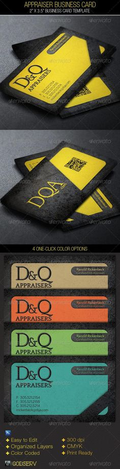 Appraiser Business Card Template