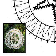 Klöppelbrief Weihnachten 3D -Ring