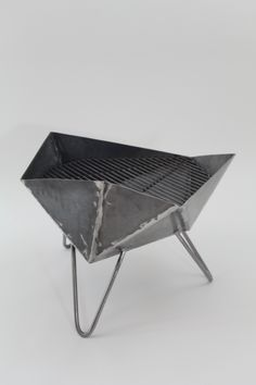 Inspired by the mathematical beauty of the triangle. STL modern fire pit / grill /sculpture by NEU