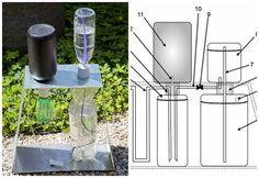 Unacreación rústica pero eficaz quepuede ayudar a jardineros aficionados y pequeños productores a mantenersus cultivospor el método de riego por goteo.
