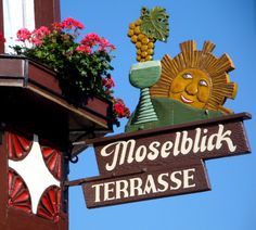 Moselle Valley in Germany - German Mosel tourism photo Mosel Germany, Photo Voyage, Tiny Shop, Oktoberfest Beer, Old Pub, Fun Signs, Beautiful Forest, Shop Signs, Germany Travel