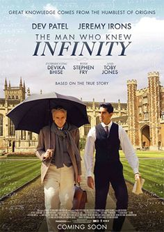 The Man Who Knew Infinity posters for sale online. Buy The Man Who Knew Infinity movie posters from Movie Poster Shop. We're your movie poster source for new releases and vintage movie posters. Jeremy Northam, Dev Patel, Jeremy Irons, Movies Worth Watching, Movie List, Streaming Movies, Film Movie, Poster, Books