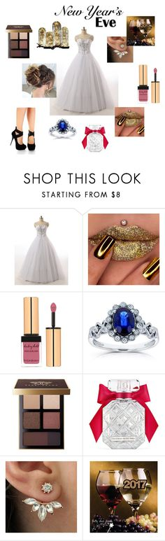 """""""New Year's Eve"""" by jessiestarman ❤ liked on Polyvore featuring Yves Saint Laurent, Kobelli, Bobbi Brown Cosmetics, Victoria's Secret, Christmas, sparkle, glitter, holiday and NewYearsEve"""