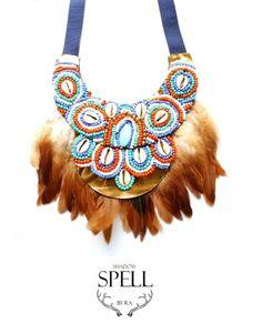 Necklace- Shadow spell- Slavic Indian- proj. Republika artystyczna