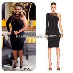 Dr. Heavenly Kimes Reunion Show One Sleeve Black Mesh Dress