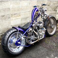 Harley Bobber, Harley Bikes, Harley Davidson Bikes, Chopper Motorcycle, Cruiser Motorcycle, Motorcycle Design, Custom Street Bikes, Custom Motorcycles, Custom Bikes