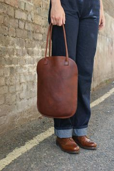 Handmade Leather Tote. by skinANDawl on Etsy