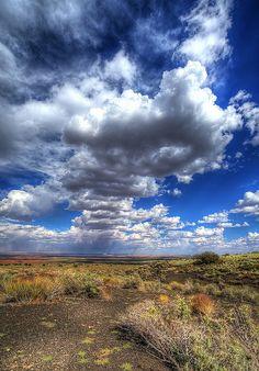 Rain Clouds Over Wupatki National Monument, Arizona