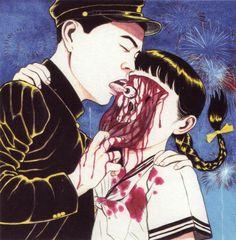 Перед вами — совсем не детские рисунки культового японского иллюстратора Суэхиро Маруо, от которых мурашки по коже