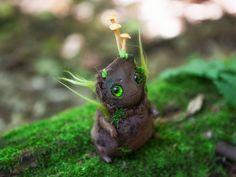 OOAK art toy Young Oak doll fantasy creature by Furrykami-creatures.deviantart.com on @DeviantArt