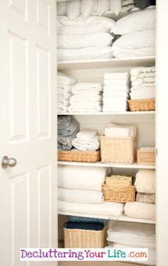 bathroom closet Linen closet organization tips and tricks for organizing this catch-all closet. How to make sure your linen or bathroom closet doesnt fall into pure chaos! Linen Closet Organization, Home Organisation, Closet Storage, Bathroom Organization, Organization Hacks, Bathroom Ideas, Organizing Ideas, Bathroom Storage, Design Bathroom