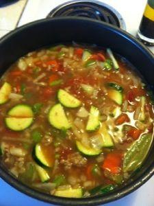 Mom's Ground Turkey Soup | imaKSimize