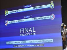 Bốc thăm Bán kết Champions League: Man City gặp Real Madrid Atletico gặp Bayern