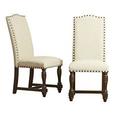 Formal Dinning Room Chairs Armless High Back Chairs for Living Room Tufted Upholstered Dining Chair Armless Cushion Tufted Cushion Dining Room Side Chair Furniture Set & e Book by AllTim3Shopping