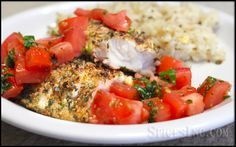Herb Crusted Tilapia | Healthy Tilapia Recipes