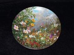 """1990 Furstenberg Wild Beauties """"On the High-Moor"""" Collector Plate by Hans Grab by ThePlateHutchII on Etsy"""