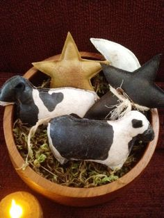 Cow Bowl Fillers by Countrybabiesusa on Etsy