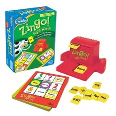 Zingo! Sight Words for Reading and Speech Therapy http://playonwords.com/blog/2012/10/02/back-to-school-great-new-toys-and-games-for-speech-therapy/