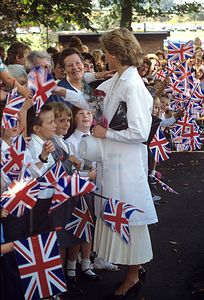 September 21 1989 Diana visits the headquarters of Weetabix Limited at Burton Latimer in Kettering in Northamptonshire