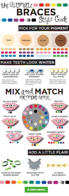 Make your braces a fashion statement! What's your style?
