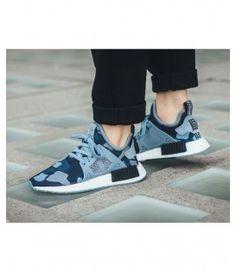 5b439cc5ee05f Adidas Nmd R1 Camo Royal Blue Shoe Blue Trainers