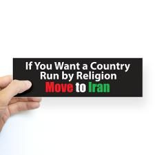 Move to Iran Bumper Bumper Sticker
