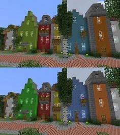 City block - colorful. easy.
